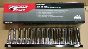 Mac Tools Set Of 14 Precision Chrome Deep Sockets 6mm To 19mm 3 8 Drive