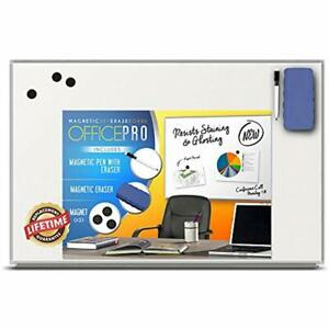 Officepro Ultra slim Lightweight Magnetic Dry Erase Board Accessories Pen 3 X