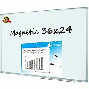 Magnetic Dry Erase Board Whiteboard white 36 X 24 Inch 1 Markers Magnets For