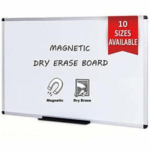 Viz pro Magnetic Dry Erase Board 36 X 24 Inches Silver Aluminium Frame Office