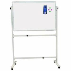 Mobile Dry Erase Whiteboard With Stand Including 1 Eraser 2 Markers 4 Magnetic