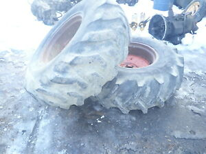 Case 680 Ck Backhoe Loader Tires Wheels Rims 16 9 24 Nice Tread 680b
