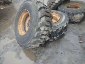 Case W11b Wheel Loader Wheels Tires 15 19 5 Nice Tread Rims Tractor W11
