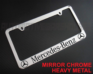 Mercedes Benz Chrome Metal License Plate Frame