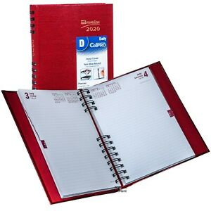 2020 Brownline Cb389c red Coilpro Daily Planner Diary Hardcover 8 1 4 X 5 3 4