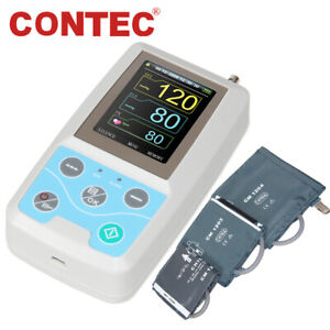 Contec Abpm50 Ambulatory Blood Pressure Monitor 24h Nibp Holter arm Cuffs fda Ce