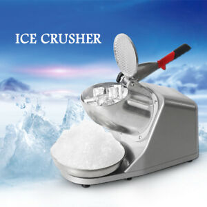 1400r min Commercial Electric Snow Cone Maker Ice Shaver Crusher Machine 180w