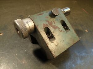 Surface Grinder Grinding Fixture 002 Adjustable Dovetail Mount Stock Stop Used