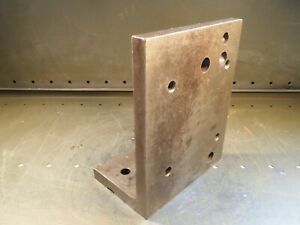 10 X 8 X 5 Machinist Right Angle Mill Set Up Fixture Plate Used Good Cond