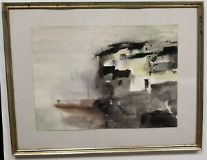 Antique Chinese Signed Seal Abstract Watercolor Painting On Paper Asian