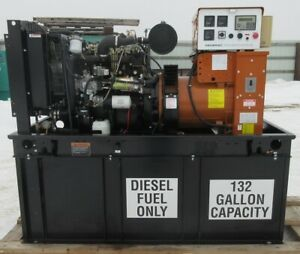 30 Kw Generac Kia Diesel Generator Genset 601 Hours Load Bank Tested