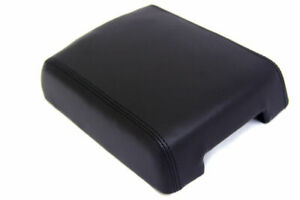 Center Console Armrest Real Leather Cover For Vw Touareg 04 10 Black