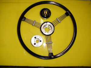 Banjo Style Vintage Steering Wheel 15 1 2 Diameter Vw Beetle 1960 1974 Black