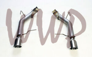 Stainless Steel Dual Axle back Exhaust Muffler Delete 11 14 Ford Mustang Gt 5 0l