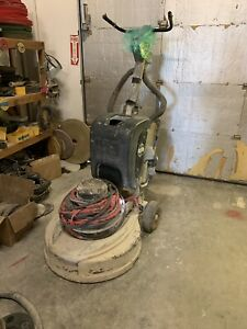 2 Machines htc 800 Concrete Floor Grinder Polisher