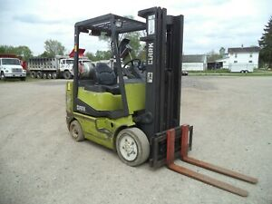 1998 Clark Model Cgc25 5 000 5000 Cushion Tired Forklift 3 Stage Mast Ss