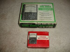 Lot Of 2 Micronta Multitest Meters With Original Box