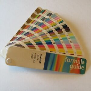 Vintage 90s Pantone Color Formula Guide Fan 1996 Coated Uncoated Gloss Matte