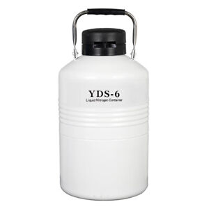 Portable 6l Liquid Nitrogen Storage Tank Static Cryogenic Container With Straps