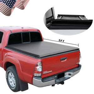 Fit 2005 2015 Toyota Tacoma 5ft Truck Bed Soft Tri Fold Tonneau Cover