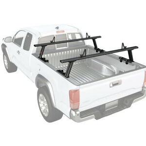 2 Bar Adjustable Truck Ladder Rack Pick Up Lumber Utility For Toyota Tacoma