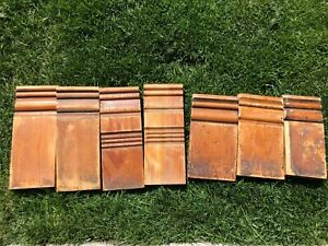 7 Vintage Trim Architectural Salvage Plinth Blocks Victorian