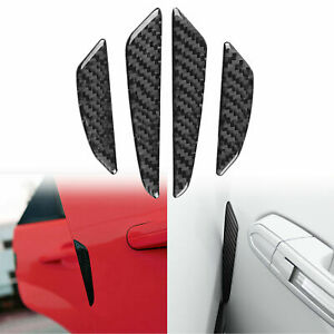 Jdm Real Carbon Fiber Car Side Door Edge Protection Guards Protect Sticker Decal