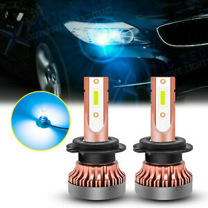 2x Ice Blue H7 Projector Led 106 Smd High Beam Daytime Running Light Bulbs Drl