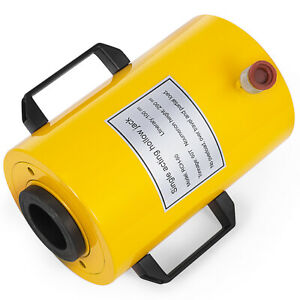 60 Tons 4 Stroke Single Acting Hollow Ram Hydraulic Cylinder Jack Hot Updated