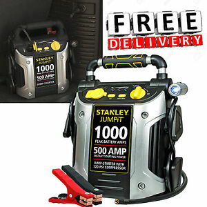 Battery Jump Starter Portable Air Compressor Box Charger Booster 6007001000