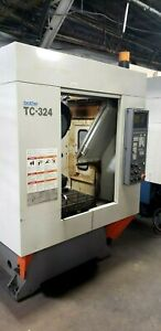 Brother Tc 324 Cnc Drilling Tapping Dual pallet Mill Vertical Machining Center