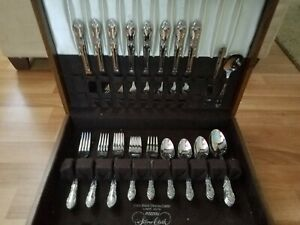 50 Piece State House Stainless Steel Flatware Set W Walnut Case Free Shipping