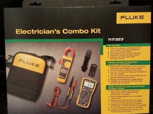 Fluke 117 323 Electricians Multimeter Combo Kit new In Box Msrp 295