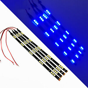 G4 Automotive 4x 12in 30cm Flexible Led Strips 5050 Car Under Dash Light Blue
