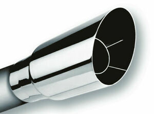 Borla 2 5 Inlet 3 5 Outlet Single Round Angle Cut Intercooled Tip