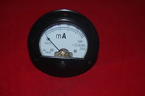 Dc 0 100ma Round Analog Ammeter Panel Amp Current Meter Dia 90mm Direct Connect