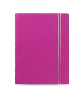 Filofax A5 Refillable Leather look Ruled Notebook Diary Book Fuchsia 115011