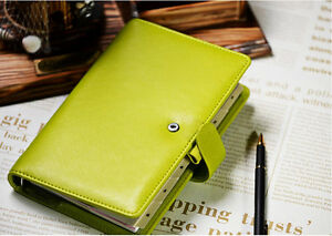 Green Filofax Compact Size Saffiano Organiser Planner Diary Book Pear Leather 2