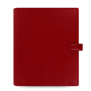 Filofax A5 Finsbury Organiser Planner Diary Book Cherry Red Leather Fashion New