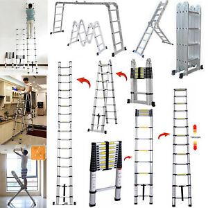 3 2m 3 8m 4 7m 5m Telescopic Ladder Aluminum Step Ladder Ladder Aluminum En131