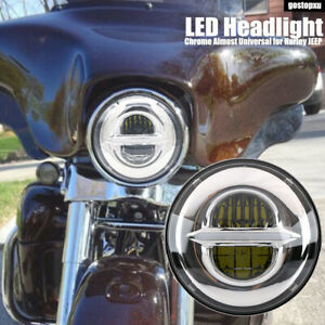 7 Led Motorcycle Headlight Hi lo Beam Drl Projector Headlamp For Jeep Harley
