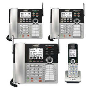 Vtech 4 line Small Business Phone System Office Bundle