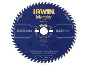 Irwin Irw1897476 Marples Table Mitre Circular Saw Blade 250 X 30mm X 60t Atb