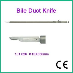 Bile Duct Knife 10x330mm Laparoscopy Ce Approved Surgical Instrument Ce