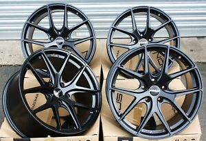 19 Alloy Wheels Staggered Satin Black 5x120 Concave 5x120 Novus 01 Alloys