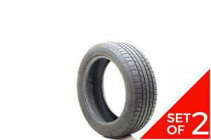 Set Of 2 Used 215 50r17 Michelin Premier A S 91h 7 7 5 32