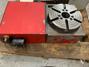 Haas Hrt 210 red With Brush Servos Cnc Rotary Table