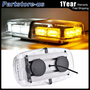 36 Led Emergency Flash Warning Roof Top Strobe Light Bar Amber White Car Truck
