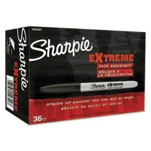 Sharpie Extreme Permanent Markers Office Pack Fine Black 36 pk