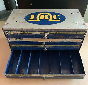 Vintage Irc Metal 4 Drawer Organizer Cabinet Box Tool Chest Resistor 28 Bin